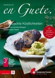 Eingepackte Köstlichkeiten - Schweizer Fleisch