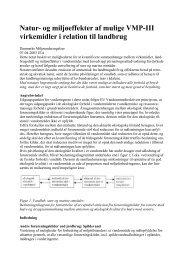 Natur- og miljøeffekter af mulige VMP-III virkemidler i relation til ...