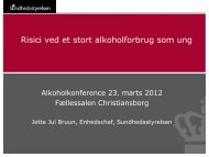 Præsentation - Alkoholkonferencer Alkohol & Samfund