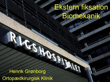 Ekstern fiksation biomekanik