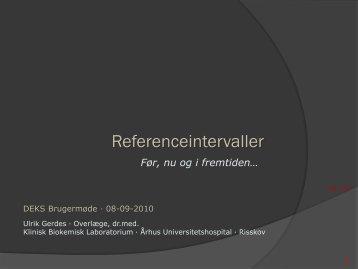 Noget om referenceintervaller - kliniskbiokemi.net