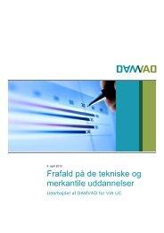 Frafald på de tekniske og merkantile uddannelser - Damvad