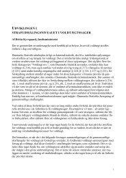 Udviklingen i straffe for voldtægt - Justitsministeriet