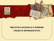 BIBLIOTECA NAŢIONALĂ A ROMÂNIEI - EuropeanaLocal