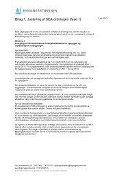 Bilag til Justering af SEA-ordningen - Bygningsstyrelsen