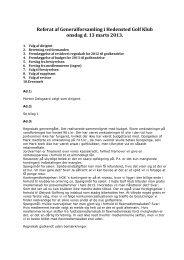 Referat af Generalforsamling i Hedensted Golf Klub onsdag d. 13 ...
