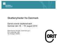 (Danish), dated 18 and 19 August 2010 by Peter ... - Corit Academic