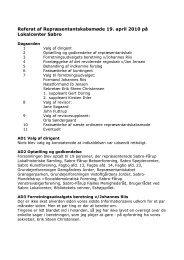 Referat af Repræsentantskabsmøde 19. april 2010 - Faellesraad ...