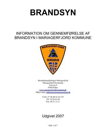 Information om gennemførelse af brandsyn i ... - Beredskab Hobro