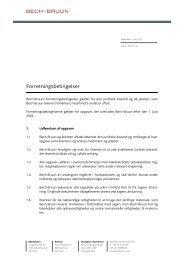 Forretningsbetingelser - Bech-Bruun