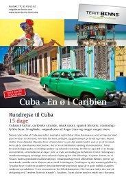 Cuba - En ø i Caribien - Team Benns