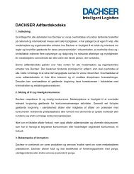 DACHSER Code of Conduct - DACHSER i