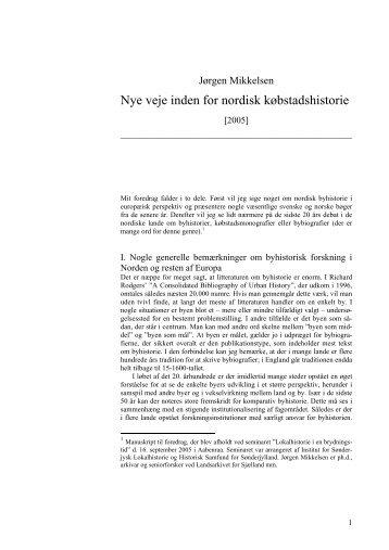 Nr 1 - Jørgen Mikkelsen-Nye veje inden for nordisk købstadshistor….