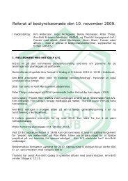 Referat af bestyrelsesmøde den 11 - Velkommen til Ree Golfklub