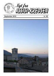 September 2010 nr. 68 Fra La Verna - Assisi-Kredsen