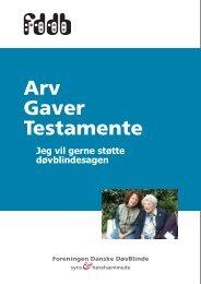 Arv Gaver Testamente - Foreningen af danske døvblindfødte
