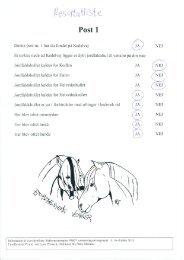 Se resultatlister med spørgsmål og svar - Hestens Venner