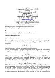 Den gjeldende Affiliate avtalen 6.8.2012 mellom ... - by KB VISION