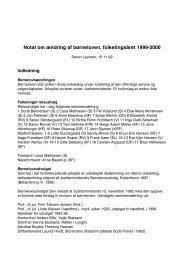 19991115 Notat om ændring af børneloven - panbloggen