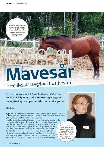 – en livsstilssygdom hos heste? - E-vet