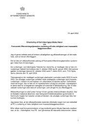 Chef FE's orientering af Det Udenrigspolitiske Nævn - Forsvarets ...