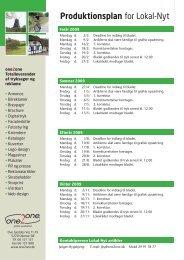 Produktionsplan for Lokal-Nyt - Faldsled - Millinge - Svanninge