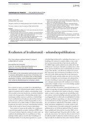 Kvaliteten af kvalitetsmål – sekundærpublikation - Niels Bohr Institutet