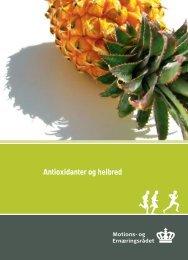 rapport om antioxidanternes - og Ernæringsrådet