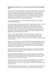 Indstilling af journalist Lasse Lavrsen til at modtage ... - Kreds 1