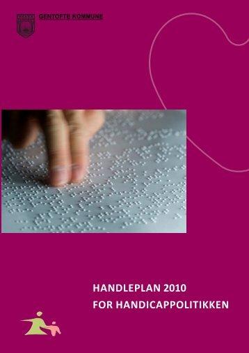 HANDLEPLAN 2010 FOR ... - handicappolitik.dk