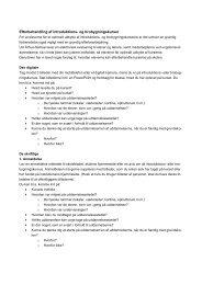 Forslag til opgaver (pdf, 34 KB, åbner nyt vindue) - UU Aarhus-Samsø