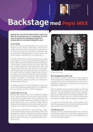 Backstagemed Pepsi MAX - Mediebureauet Mindshare Blog