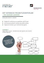 DET INTENSIVE PROjEKTLEDERFORLøB - Teknologisk Institut