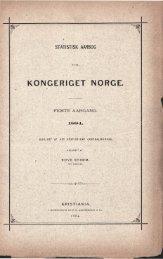 Statistisk Aarbog for Kongeriget Norge 1884