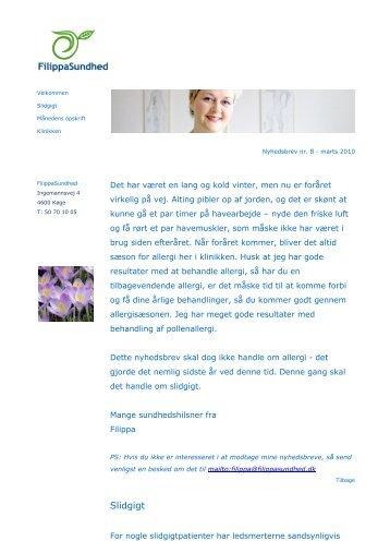 Nyhedsbrev nr. 8 - marts 2010 - FilippaSundhed
