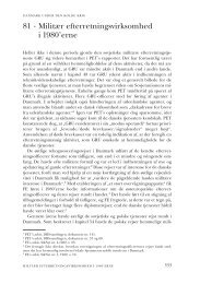 Kapitel 81. Militær efterretningsvirksomhed i 1980'erne - DIIS