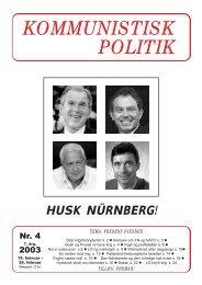 Kommunistisk Politik 4, 2003