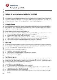 København Udkast til bestyrelsens arbejdsplan for 2013 - SF