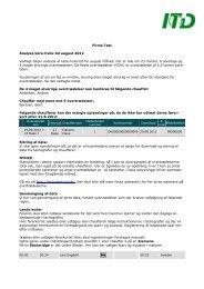 Eksempel på køre-hvile-tids-rapport fra ITD