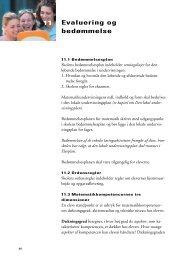 11 Evaluering og bedømmelse - Undervisningsministeriet