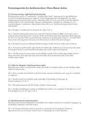 Forretningsorden for skolebestyrelsen i Hans Rømer skolen
