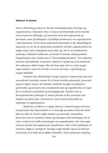 sammendrag af afhandlingen - Dansk Center for Organdonation
