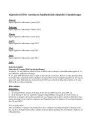 Afgørelser til Det veterinære Sundhedsråds udtalelser i ...