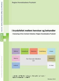 evaluering af Den Centrale Visitation i Region Hovedstadens Psykiatri