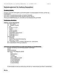 Sejladsreglement for Aalborg Søspejdere