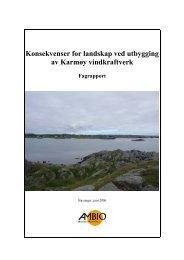Konsekvenser for landskap ved utbygging av Karmøy ... - Statoil
