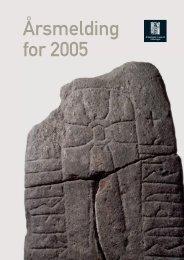 Årsmelding for 2005 - Arkeologisk museum - Universitetet i Stavanger