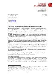 jan. 2012 - Dyrenes Beskyttelse