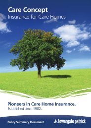 Policy Summary - Towergate Insurance