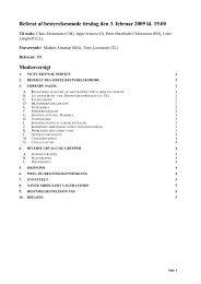Referat af bestyrelsesmøde tirsdag den 13 - Bispeengen